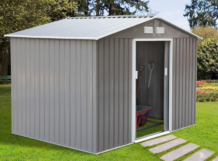 caseta jardín metálica gardiun buckingham, como instalar una caseta de jardin metalica